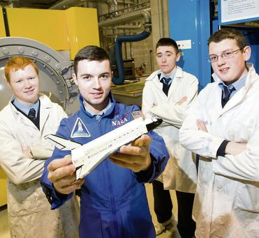 Jason Hannon, Jonathon Roche, Jamie O'Connell and Kevin Hanley, four secondary school students from Limerick