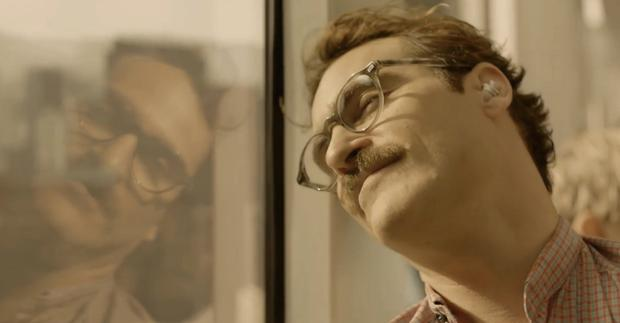 Joaquin Phoenix as he appears in Spike Jonze's new film 'Her'