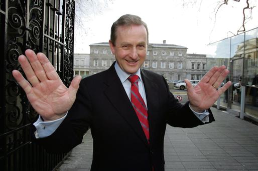 Facepalm: Most Junior Cert students in 2006 were unable to identify Enda Kenny (pictured here outside Leinster house). Photo: Tom Burke