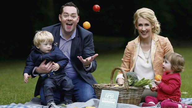 Neven and Amelda Maguire help launch the First 1,000 Days movement with their twins, Connor and Luci. For more info visit first1000days.ie