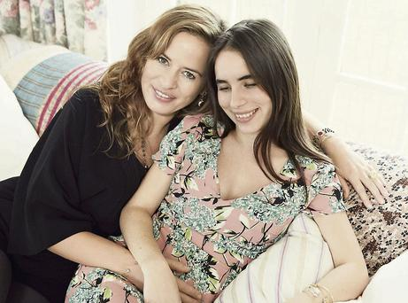 Jade Jagger with her daughter Assisi Jackson