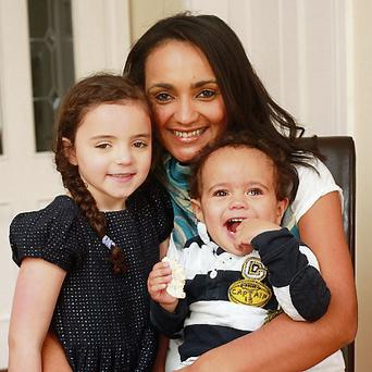 Isabelle Charmant with Zara (5) and Jasper (19 months). Photo by Ronan Lang
