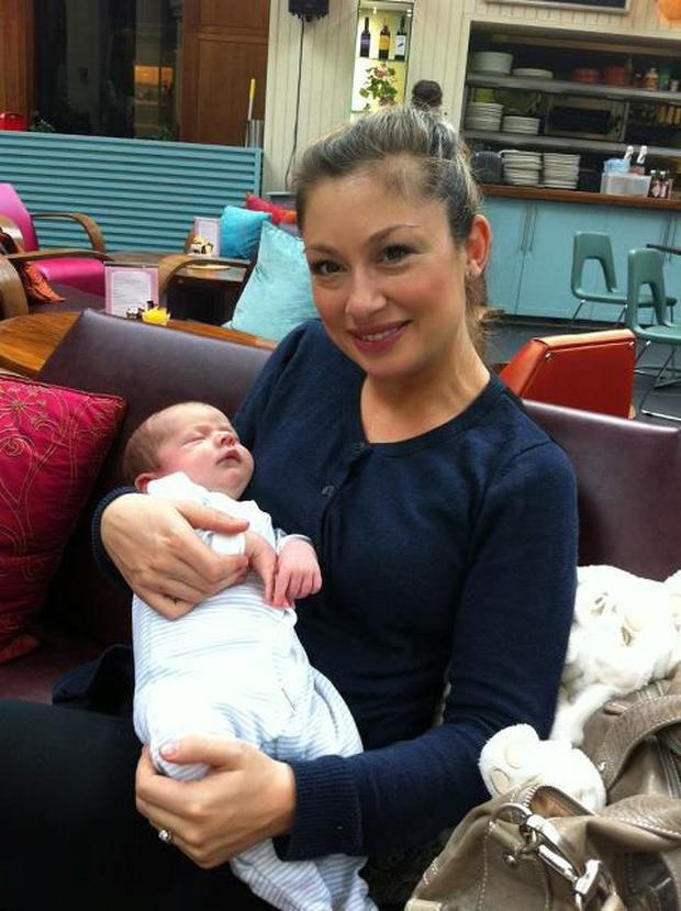 Leigh Arnold and baby Hunter