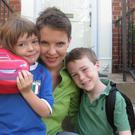 Mother's bond: Caitriona Palmer with two of her children, Caoimhe and Liam.