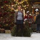 Breathless: Renee Zellweger as a pregnant Bridget attempts to set up the Christmas tree in 'Bridget Jones's Baby'