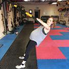 Siobhan O'Dowd training while eight months pregnant