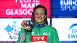 Mona McSharry pictured in 2019 at the European Short Course Swimming Championships in Glasgow, Scotland. She has acknowledged her pride at reaching an Olympic final in Tokyo, despite not winning a medal. Photo: Tino Henschel/Sportsfile