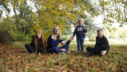 Parenting coach Aoife Lee with (from left) daughter Katie (9) and sons Jamie (3) and Charlie (12)