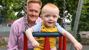 Ireland Editor Fionnán Sheahan got to spend much more time with his son Cian (10 months) over lockdown. Photo: Gerry Mooney