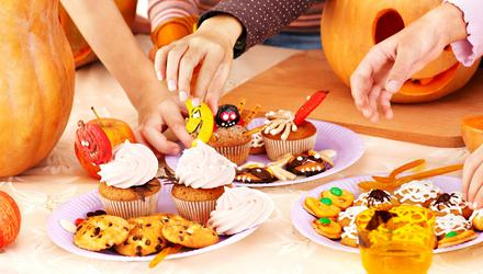 Try to reduce the amount of sugary treats your child eats over Halloween