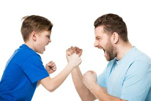 The daily arguing and shouting is tearing this family apart. Stock picture