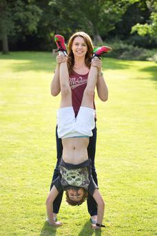 Beverley Turner with her son, Croyde