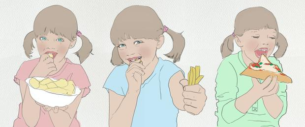 Some children are obsessed with food
