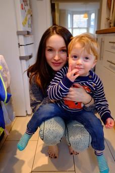 Francesca Hornak, here with son Finlay, says mums are so desperate to 'get it right'.