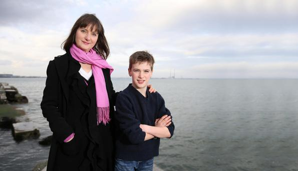 Empowerment parenting: Catherine McDonnell says she doesn't want her son Rossa to be paralysed by fear. Photo: Frank McGrath