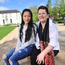 Togetherness: Anne O'Neill pictured with her daughter Jiang in Cork city