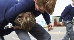 Over time you can teach your son the skills of listening, negotiating and sharing