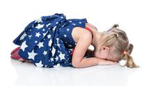 Frustration can spill out into quite severe tantrums in some toddlers. Picture posed
