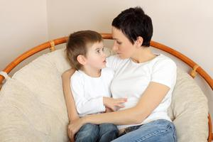 It may be helpful for you and his dad to have a shared explanation, which you can both agree on