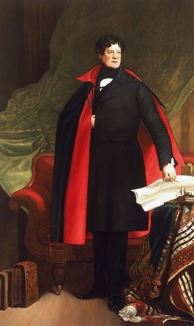 Daniel O'Connell, becloaked, in the famed 1838 portrait by Sir David Wilkie
