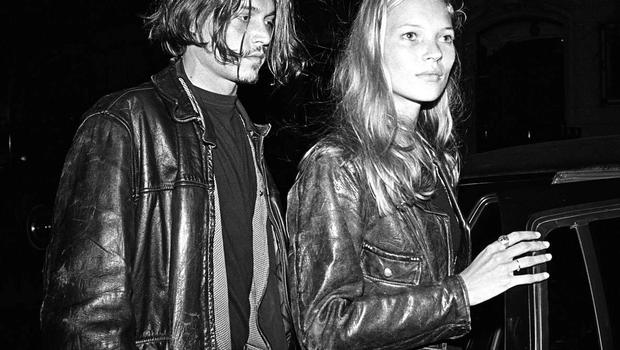 Johnny Depp and Kate Moss in New York in 1994