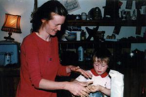 Grainne Mullins and her mother Esther