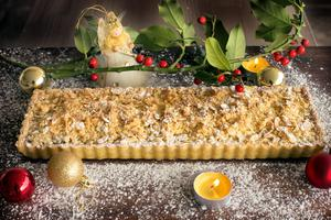Rachel Allen's mincemeat crumble tart. Photo by Tony Gavin