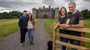 Keith Coleman and Aisling McHugh, and Carina and Alex Conyngham at Slane Castle. Photograph: David Conachy
