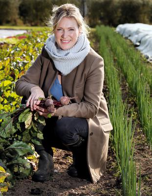 Rachel Allen picks some beetroot. Photo: Tony Gavin.