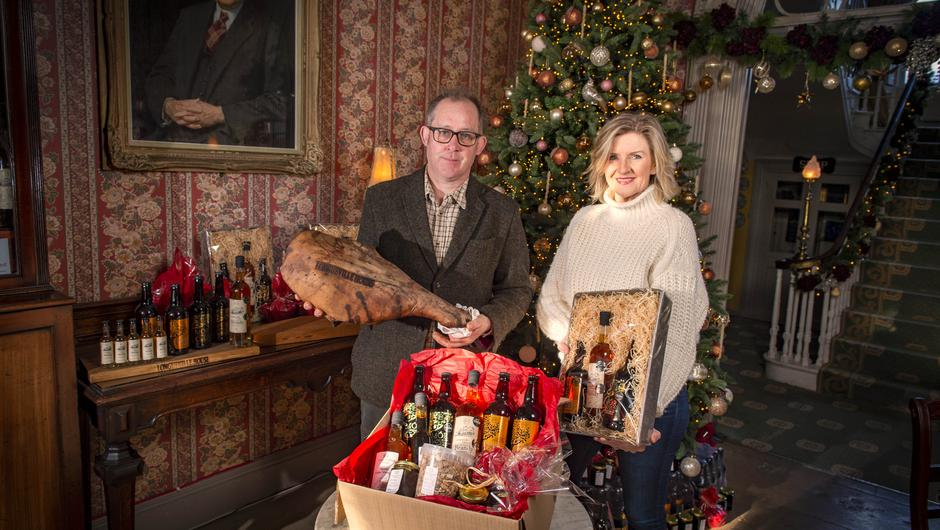 William and Aisling O'Callaghan, of Longueville House, Co Cork, with some of their beautiful hand-crafted drinks. Photo: Michael MacSweeney/Provision