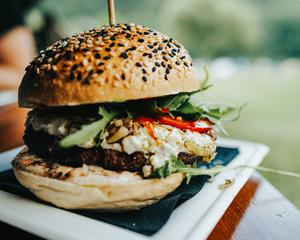 Lamb burgers With beetroot and Blue cheese