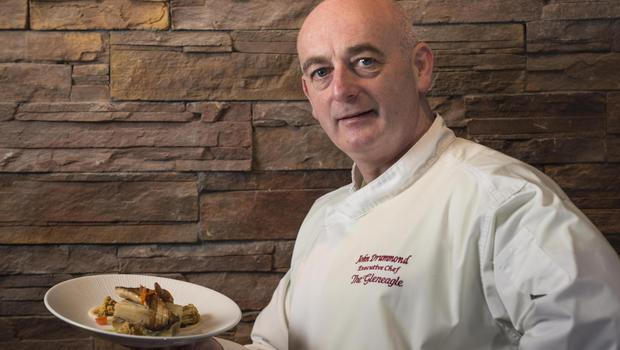 John Drummond, Executive Chef at The Gleneagle Hotel, says he can feel the benefits of a vegan diet after taking part in Veganuary. Photo: Don MacMonagle