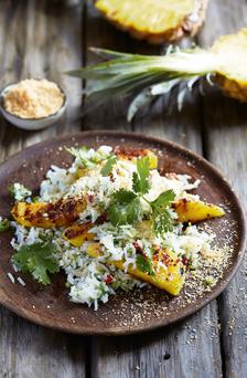 Thai rice salad with spiced pineapple