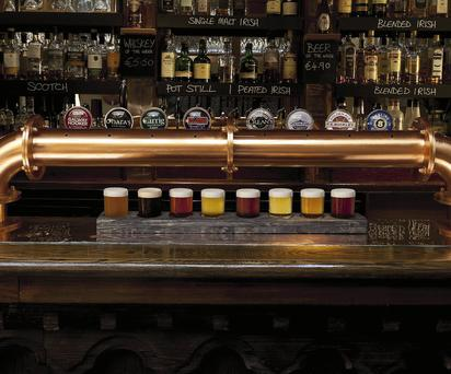 Perfect pints: The Bull and Castle have a colourful range of beers on offer