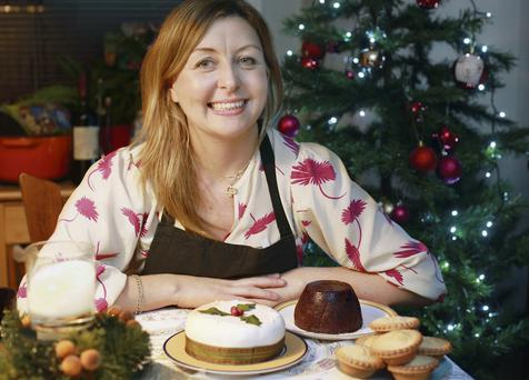 Edel Coffey with shop-bought desserts
