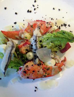 Seafood: Raymond McArdle has launched a new Wild Atlantic Way Menu at Inishbofin House Hotel