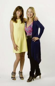 Victoria Lambert (right) with Mimi Spencer