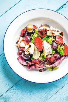 Black Muscat grape salad