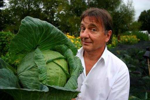 TV Chef Raymond Blanc grows his own cabbage