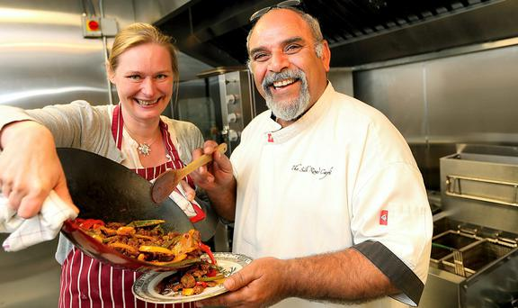 Foodie World: Abraham Phelan and Rikke Sorensen Callaghan of the new Silk Road Kitchen Cookery School in Dublin. Photo: Gerry Mooney.