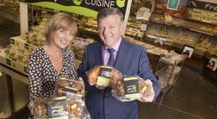 Gluten-Free Goodies: Catriona Scally and Eugene Scally of Scally's SuperValu Clonakilty show off their new range of Clonakilty Gluten Free Cuisine