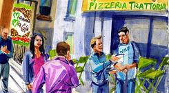Mamma Mia illustration by Eorna Walton.