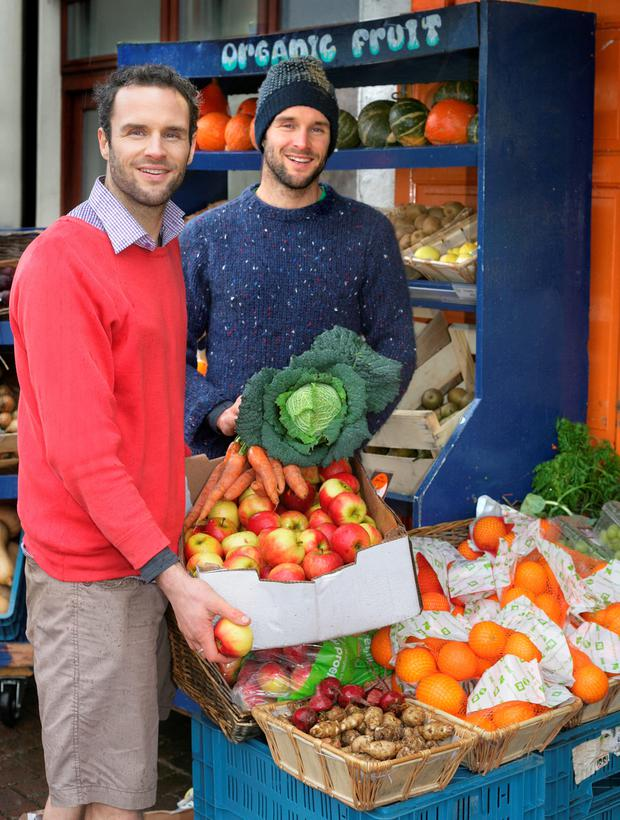 Brothers David and Stephen Flynn of the Happy Pear cafe. Photo: Ronan Lang.