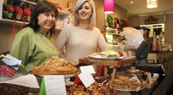 Warm welcome and good food: Vivienne Johnston and Janine Breslin of Mellow Fig Cafe in Blackrock. Photo: David Conachy.