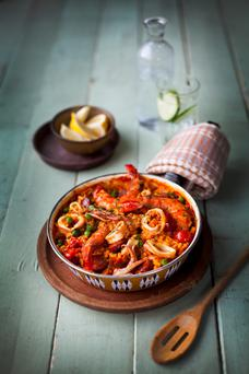 Spicy Seafood Paella
