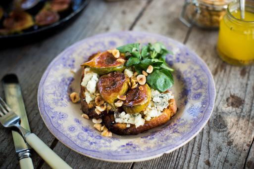 Donal Skehan's Sourdough Tartine with Blue Cheese & Roasted Honey Figs