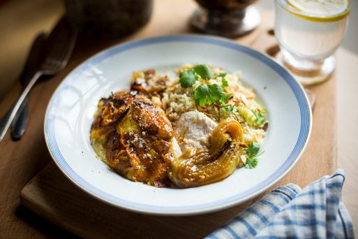 Donal Skehan's Baked Indian Spiced Yogurt Chicken with Couscous