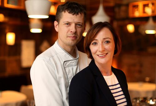 Dempsey's den: Conor and Joanna Dempsey work at different ends of the day but manage to combine their two businesses with raising a family. Photo: Gerry Mooney.
