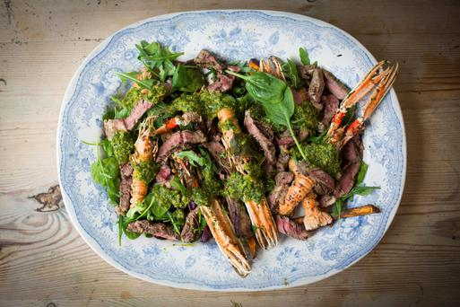 Surf and turf with chimichurri