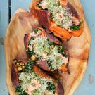 Superseed and Sprouts Baked Sweet Potato